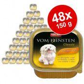 Ekonomipack: 48 x 150 g Animonda vom Feinsten Senior: Fågel & lamm