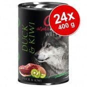 Ekonomipack: alpha spirit våtfoder 24 x 400 g - Salmon with Blueberries