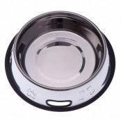 Matskål av rostfritt stål med präglat motiv och gummiring - 1,8 l, Ø 27 cm