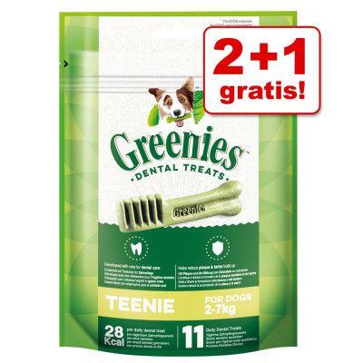 2 + 1 på köpet! 3 x Greenies tandvårdsgodis - Greenies Petite 3 x (170 g / 10 st)