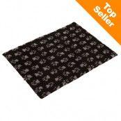 Vetbed® Isobed SL Paw hundfilt - svart/grå - L 150 x B 100 cm