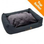 Sleepy Time Grey hundsäng med kudde - B 80 x D 65 x H 30 cm