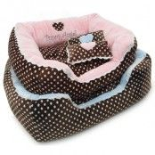 Soft Velour Polka Dimple Bed