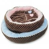 Soft Velour Polka Ring Bed