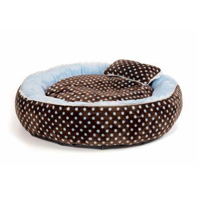 SOFT VELOUR POLKA RING BED - Blue